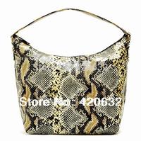 women PU handbag brand design New 2014 fashion bags sexy high quality imitation snakeskin restoring ancient ways ivory hot top
