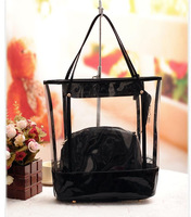 2013 women's summer bag high quality eyelash lace transparent jelly bag messenger bag Free shipping BTP008