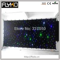 Free shipping RGB 3X6M with controller led christmas lights  6pcs/sq