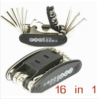 Free Shipping 2 Pcs 2014 New Arrival Special Sale Price 16 IN 1 Multifunctional Tools Bike Bicycle Riding Cycling Repairing Tool