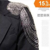 2014 Punk Personalized Alloy Beads Tassel  Epaulet & Epaulette & Shoulder Loop Fashion Jewelry For Women Accessories 2014 PT32