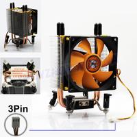 FREE SHIPPING 3PIN DC 12V CPU Heatsinks Cooler Cooling PC computer Fan For Intel LGA 775,  bumblebee fan 30PCS/LOT