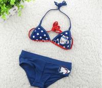 Wholesale  5pcs/lot children's beach bikini female models USA swimwear for children