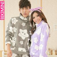 2014 long winter man women pijama feminino comprido casal sets brand couples soft coral fleece/flannel nightwear pajamas clothes