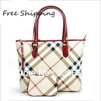2013 Fashion big brand women's handbag designer ladies vintage plaid bags luxury business establishments bag HT347 Free Shipping