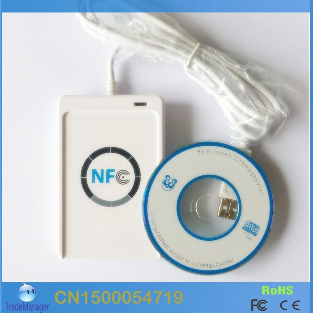 ACS ACR122U NFC RFID Smart Card Reader Writer emulator For Windows 2008 Server 13.56MHZ Support MF1 ultralight ,Ntag213 Card(China (Mainland))