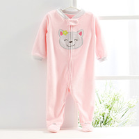 Free Shipping, Original carter's terry footed romper,baby girls long sleeve Jumpsuit, Infant and Toddlers Overalls,size 6M 9M