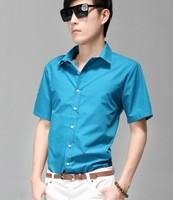 New 2014 Fashion Men Short-Sleeve Shirts For Men Shirt,14 Colors Men Clothing Casual t-Shirt Man's Spring 2014 Mens Dress Shirts