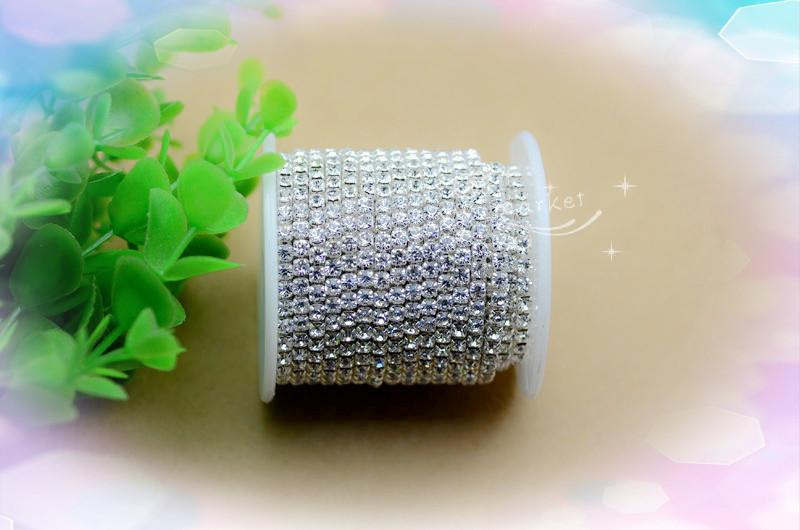 kostenlosem versand glänzend kristall strass glänzenden schließen kette trimmen bekleidungszubehör 10 Meter