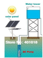 30M 48v high flow solar water pumps deep well for agriculture with low price