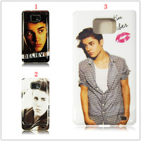 Super Star Justin Bieber Kiss High Quality Hard Plastic Back Case Cover for Samsung Galaxy S2 S II i9100,DHL Free Shipping