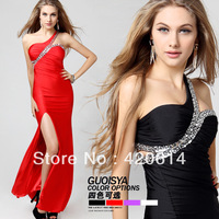 Hot Selling Red & Black Evening Dress Party Cocktail Bridal A-Line Backless Dress Formal Gowns Prom Ball Wedding, Free Shipping