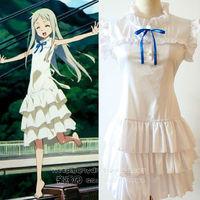 Free Shipping New Anime ANOHANA Menma Clothes Cosplay Dress Costume