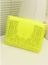 Free shipping 2013 neon color personalized vintage cutout female shoulder bag national trend bag summer envelope bag clutch bag
