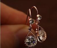 European & American style statement earrings fashion zircon drop earring for women 2014 new fashion free shipping