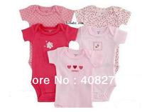 5pcs/lot Summer short-sleeve toddler's cotton Jumpsuits Carter's Baby Suit Carters Rompers Boy Girl design multicolour