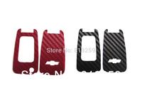 For  Chevy Cruze Fiber Emblem Logo Mark Remote Key Chain Sticker X 2PCS