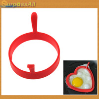 (Free shipping CPAM) 30PCS Kitchen Silicone Fried Fry Frier Oven Poacher Pancake Egg Poach Ring Mould H-152A
