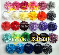 "trail order, 2"" Mini Satin Mesh Flowers,girl's hair flower  80pcs/lot  free shipping"