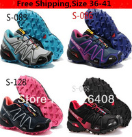 2013 New Salomon Salomon speedcross CS 3 Women Running Shoes Ladies Walking Shoes Men Athletic Shoes Free Shipping Size 36 to 40