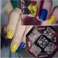 Newest  Design  10 pieces/lot   Stamping Nail Plates  Nail Art Stamper  Nail Plates  QA61