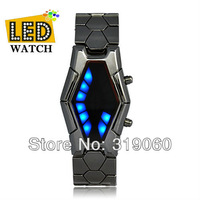 Free shipping!LED watch, digital watch,Sauron - Japanese Inspired Red and Blue snake watch, Best choice for gift and yourself!