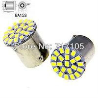 10PCS S25 1156 1073 1141 Car LED 22SMD Backup Reverse Lights Tail Bulbs turn signal reverse light WHITE #HW22 DRL HID lamp 3020