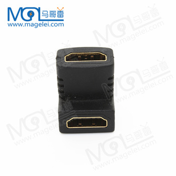 HDMI Female to Female Right Angle Gender Changer Adapter for  Digital Video