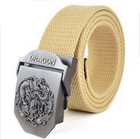 Fashion imitation leather - the dinosaurs metal man with man CEINTURE buckle belt men's belt free shopping Free Shipping