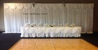 1pc 3m drop*9m length backdrop stand, 1pc 3m drop*9m length backdrop,1pc 9m Length swag ,1pc 3m*9mLed curtain light