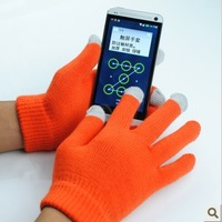 10pairs(20pcs)/lot Free shipping for colorful  unisex Winter glove  colorful touch Screen gloves  for Iphone touch