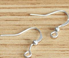 YBB 15mm Silver Golden Plated Coil Wire Metal Earring Hooks U Pick Size Qty u need