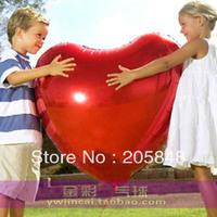 10pcs 75cm Red Big Heart Shape Foil Balloon For Party Wedding Decorative