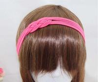 HOT Selling !!! Fashion Fluorescence Braid Elastic Rubber Hair Band Headband Hair Wrap Bands Free Shipping 50pcs/Lot