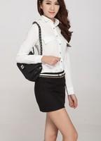 Black/Gray S,M,L,XL,XXL Tight Hip Woolen ladies OL formal skirt design elegant women office skirt suit