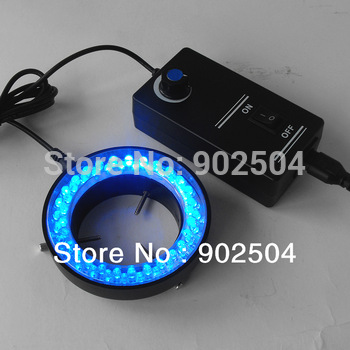 Free shipping Blue Light 60 Led Lamps Ring Lamp used on Stereo Biological Zoom Stereo Microscope Parts with Adapter 220V or 110V