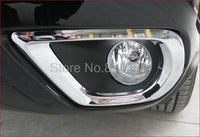 fit for  Subaru Forester 2013 2014 Chrome Front Fog Lamp Light Cover Trim Trims
