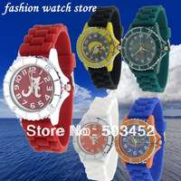 College Student Watch 56pcs/lot,Men's Watch Silicone Watch Plastic Watch,10colors Available,DHL Free Shipping To Usa/Europe