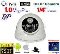 Free Shipping NEW 1.0 Megapixel IP Camera CMOS Full HD Network ip Dome Camera, 720P IP Camera ONVIF 2.0 version,ip camera h.264