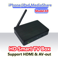 Android 4.1 Google TV box with remote , AV ,HDMI WIFI and Iphone ipad control