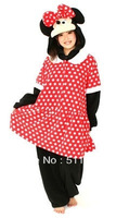 New Arrival Cute Minnie winter Kawaii animal pajama one piece cheap Adults Sleepwear, Free Shipping!