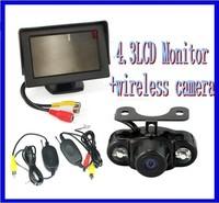 wireless 4.3 Inch TFT LCD Car View Monitor Reversing Camera kit parking sensor car camera back up camera