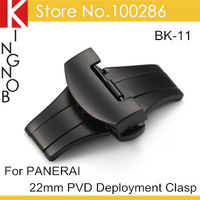 BK-11 Butterfly Buckle 22mm 316L Stainless Steel PVD Deployment Buckle Clasp For Panerai Strap Free Shipping