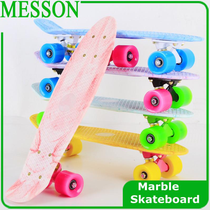"Messon 22"" marmo skateboads tavola lunga nuovo mini skateboard di plastica"