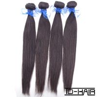 Aliexpress 5A Indian Virgin Hair Straight Human hair weave Natural black color 1B 4 pcs lot TD Hair Products