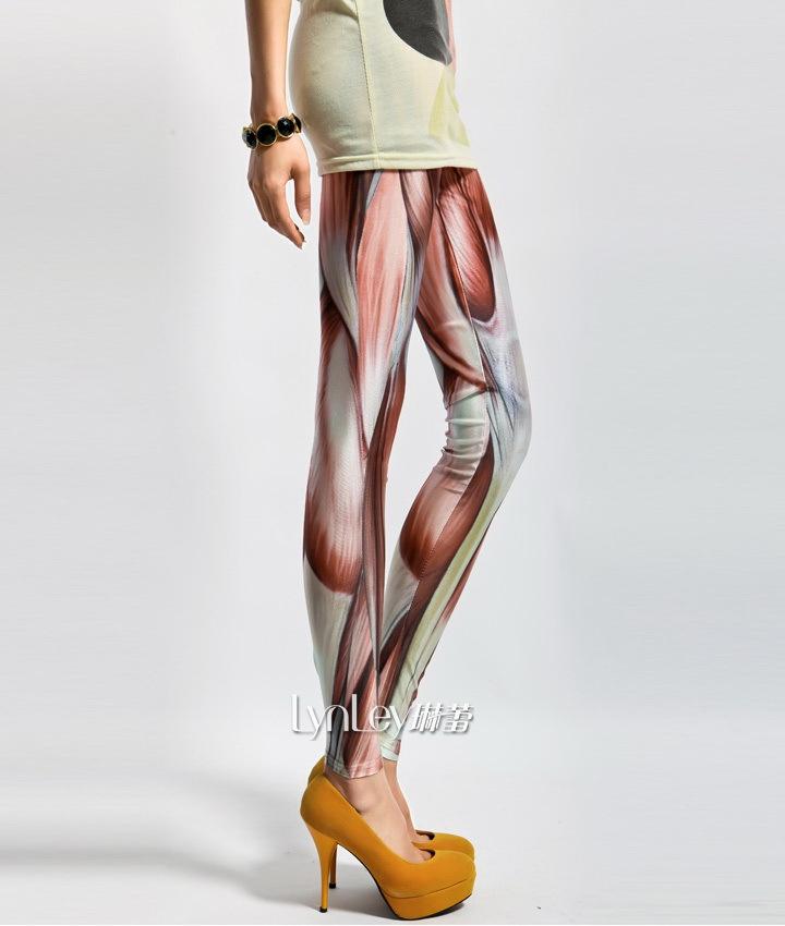 Ebay Hot Selling,2013 New Fashion!Women Sexy Galaxy Muscle Print Leggings Elasticity Pants LLG001