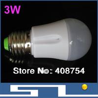 3W LED bulb lights,smart LED ceiling light 240lm, E27base lamp,Energy-saving, 20pcs/lot, free shipping