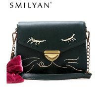 Free shipping! Smilyan shoulder bag women's handbag vivi shaping cat small messenger bag
