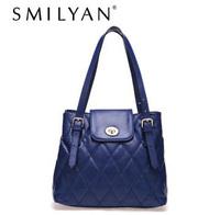 Smilyan fashion embossed bucket bag women's shoulder bags genuine leather handbags women messenger bags bolsas free shipping