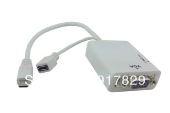For Samsung Galaxy S4 i9500 S3 S III i9300 i9308 MHL To VGA converter Adapter
